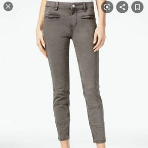 Guess Grey Skinny Casual Moto Jeans